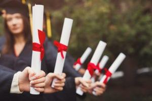 IB graduation scrolls